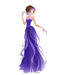 Violetta in dress by CSImaginary by TamerofFire
