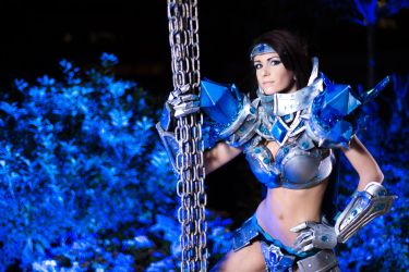 Taric, fem, League of Legends by EminenceRain