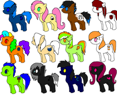 My Little Pony Adoptables by SnoHeartsMay