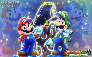 Mario and Luigi: Dream Team Wallpaper. by BowserJrSMB