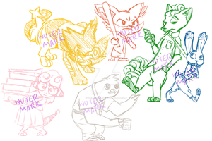[Work In Progress] - Zootopia x Pokemon