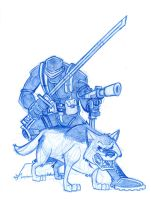 Snake-Eyes and Wolf by Hen-Hen
