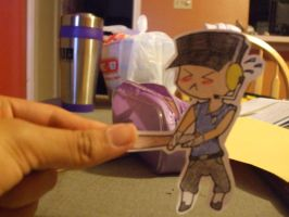 TF2-Paper Child BLU Scout by StrawberryPockyFox