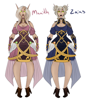 Maaith and Zaias Suntress by DerpQueenLily
