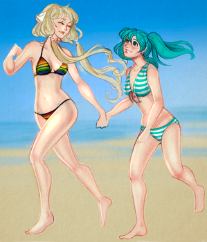 Chii and Miku by Stardust-thief by JMJGRANGER