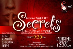 Secrets Flyer - 2.26.2011 by InkFable