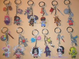 LEAGUE of LEGENDS -  Keyrings 3 by ChilliEleen