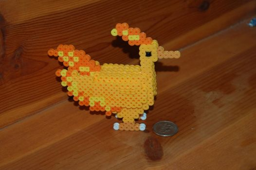 3D Moltres Perler by evilpika