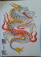 Traditional Japanese Dragon by edi19982