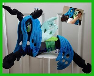 mlp plushie Queen Chrysalis Available Today by CINNAMON-STITCH