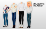 MMD Male outfits DL by UnluckyCandyFox