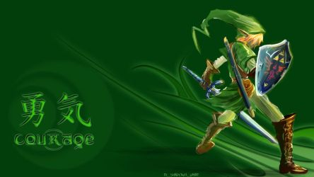 The Courage of Link by shad0w8