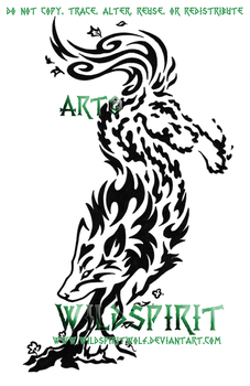Elemental Spirit Wolf Tattoo by WildSpiritWolf