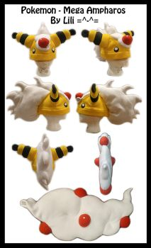 2nd Gen - Mega Ampharos Hat and Tail by LiliNeko