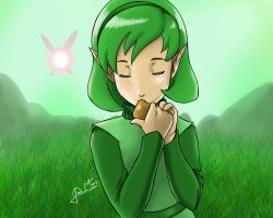 Saria - The Legend of Zelda: Ocarina of Time by Jays-Art