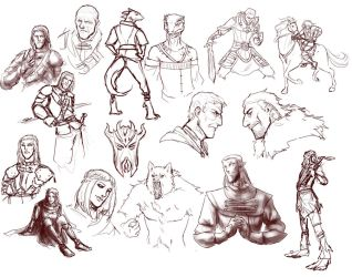 Skyrim sketches by ankalime