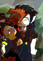 Raining Date by Mobian-Shadowtails