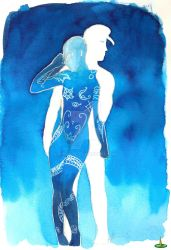 Silhouette -blue by K-naille