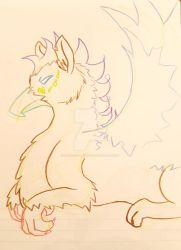 Color Pencil Gryphon by Paws-for-a-Moment