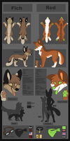 Red and Fich reference sheet by Chargay