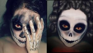 Photoshop 4 Fun-Skull Woman by Kyle-Lefort