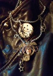 Steampunk pendant by SunreiCreations