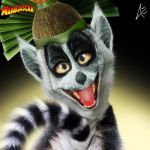 King Julien Portrait- Madagascar by Andersiano
