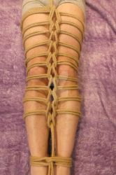 Shibari on legs by Ange1ica