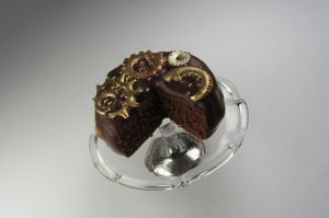 Steampunk Chocolate Cake by Bunny-with-Camera
