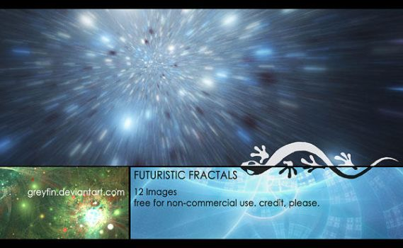 stock package - scifi fractals by greyfin