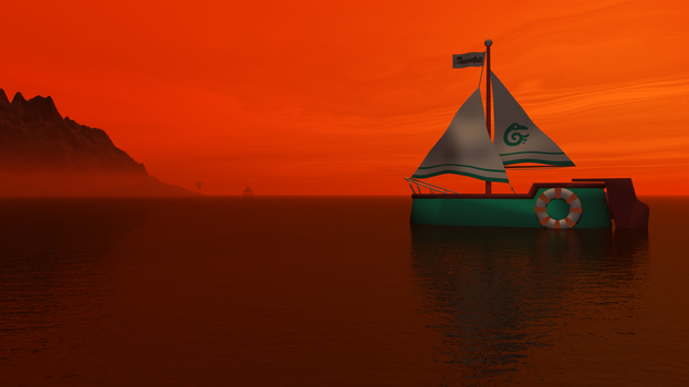 A Red Sky In The Morning A Sailor's Warning by 777eza