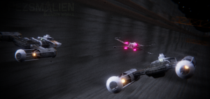 Death Star Trench Run by PezsmAlien