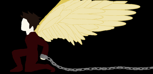 Angel in chains by T1l2t3a