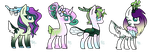 MLP Breed Commission: Fawnling Foals (3/4 Open) by PsychoBerries