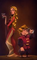 Cersei and Tyrion by frogbillgo