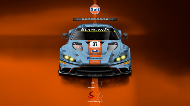 Aston Martin Vantage GT3 Gulf Oil by Speedyx56