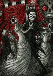 Dancing in Day of The Dead by DemiseMAN