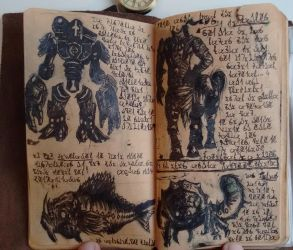 Suits, Gulper Fish, Centaurs, and Grubs (Diary 12) by Dr4wner