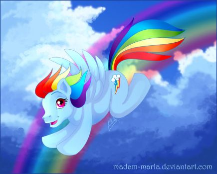 MLP Rainbow Dash by madam-marla