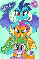 DRAGONS DO FRIENDSHIP by EMositeCC