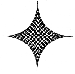 Conic Checkerboard... Drawn with a Pen? by Cuberman3141