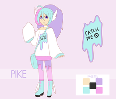 Pike, pokemon trainer ~ reference sheet by milkyteru