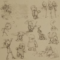 Holiday Sketches 005 by AndrewMcIntoshArt