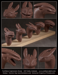 Expression Series - Toothless by emilySculpts