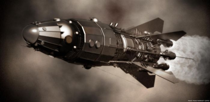 Steampunk Expedition Rocket by RoadWarriorZ44