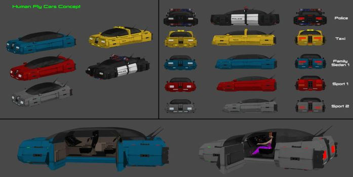 Fly Cars Concept - Part 1 by nach77
