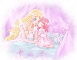 Neo queen serenity and Rini by MagicalBunnies