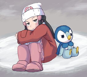 smol angry child and birb by Serene-Raven