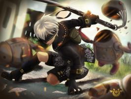 Nier Automata: 9S Battle by LaiciPlaysPiano