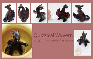 Quizzical Wyvern - SOLD by Bittythings